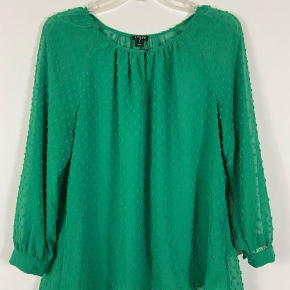 JCrew Green Long Sleeve Shirt Small St Patrick's